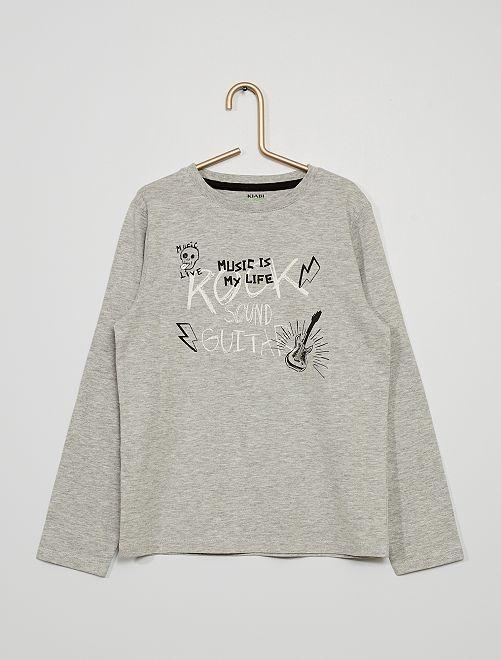 T-shirt met print                                                                                                                                                                                                                 GRIJS