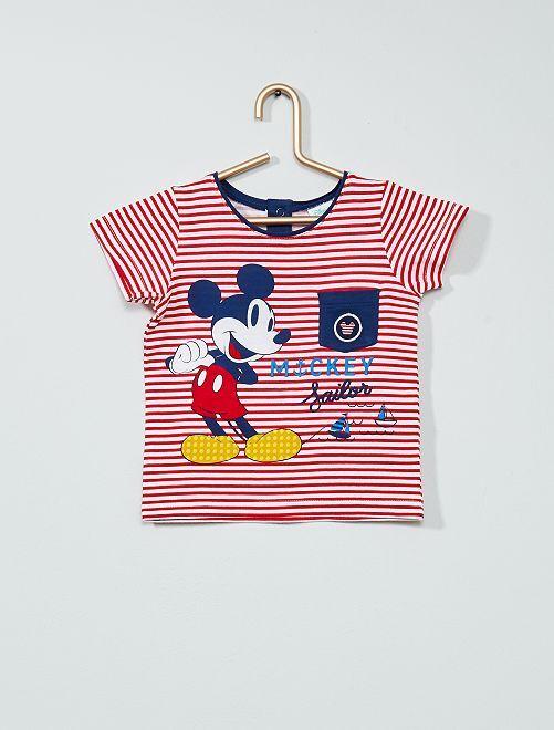 T-shirt 'Mickey' van 'Disney'                                         rood