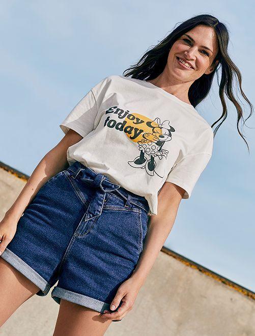 T-shirt 'Minnie'                             WIT