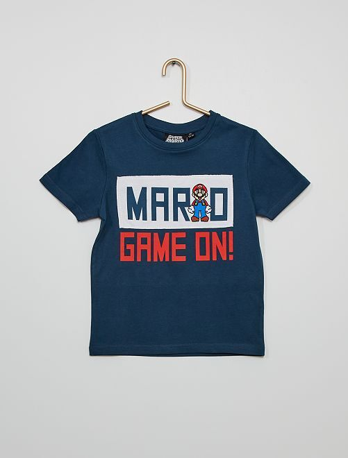 T-shirt 'Super Mario'                                         BLAUW