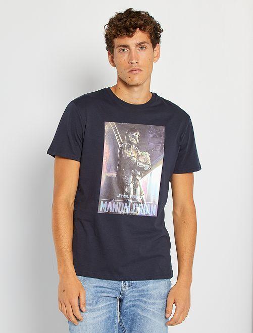 T-shirt 'The Mandalorian'                             BLAUW