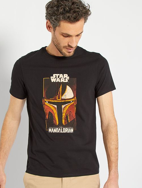 T-shirt 'The Mandalorian'                             ZWART