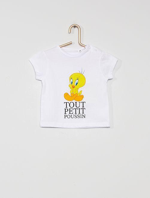 T-shirt 'Tweety'                             wit