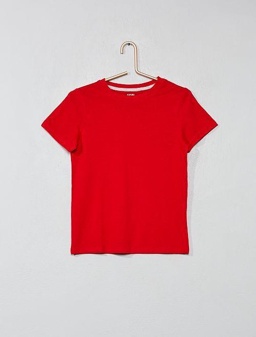 T-shirt van 100% katoen bio                                         ROOD Kinderkleding jongens