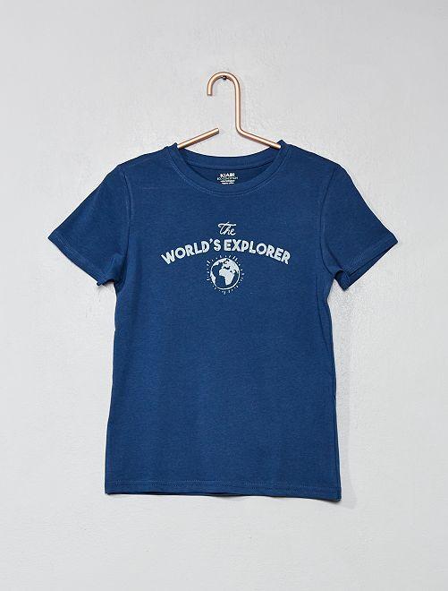 Kinderkleding Jongens.T Shirt Van Biologisch Katoen Met Print Kinderkleding Jongens