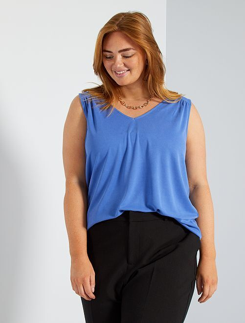 T-shirt van modal                                                                                                                                         blauw