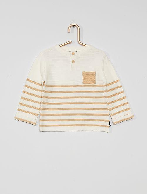 Trui 'Ecodesign'                                         WIT/beige