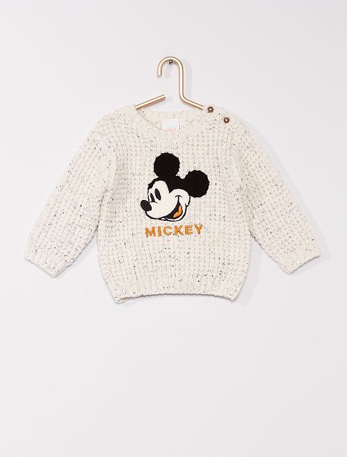 Trui van dik tricot 'Mickey' van 'Disney'                                         WIT