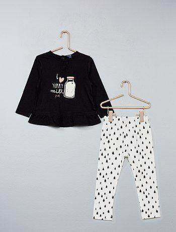 ebdd46029cf Meisje 0-36 maanden - Tweedelige set met tuniek en legging - Kiabi