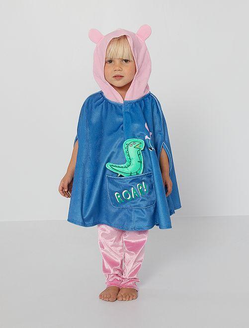 Verkleedkleding cape 'Peppa Pig'                             blauw / roze