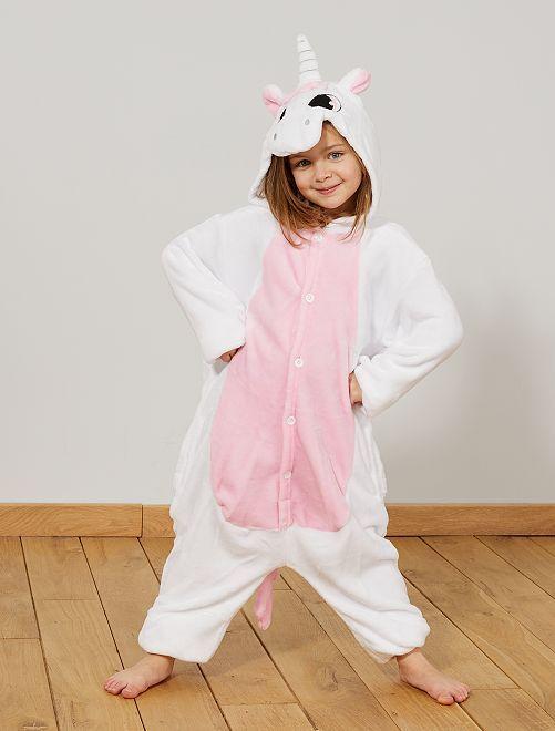Verkleedkleding 'eenhoorn'                             wit / roze