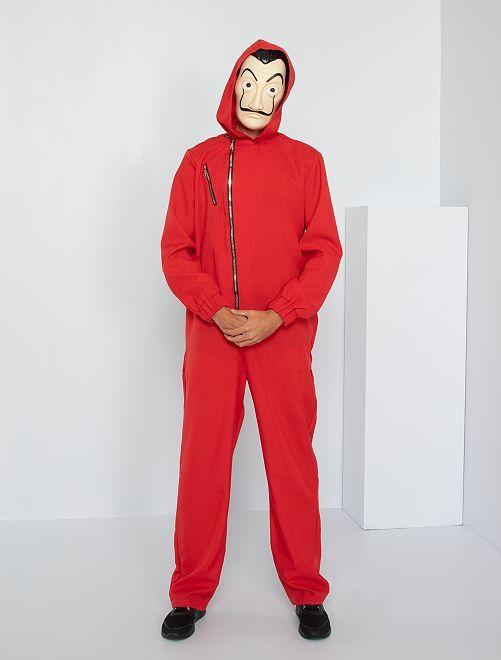 Verkleedkleding 'La Casa de Papel'                             rood