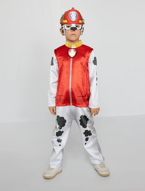 Verkleedkleding van imitatiebont 'PAW Patrol'                             rood / wit