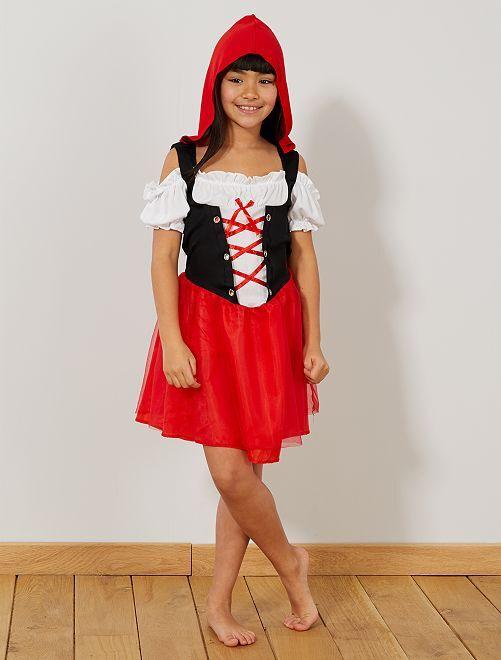 Verkleedkostuum Roodkapje                             rood / wit