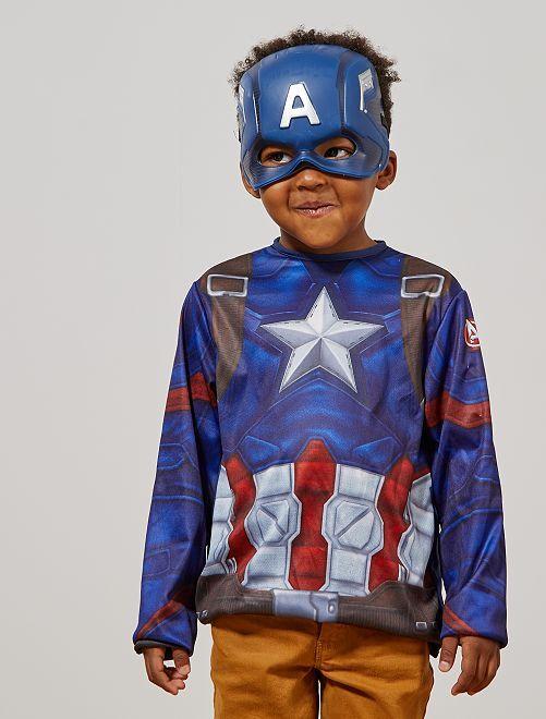 Verkleedkostuum van 'Captain America'                             blauw