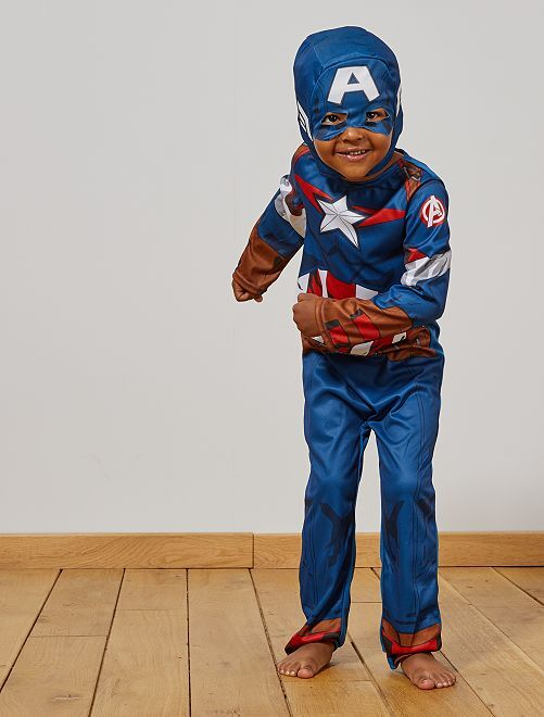 Verkleedkostuum van 'Captain America'                             blauw / rood