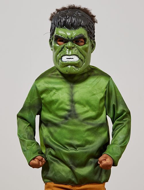 Verkleedkostuum van de 'Hulk'                             groen / zwart