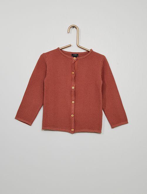 Vest van ajourtricot 'Ecodesign'                                                                 ROSE