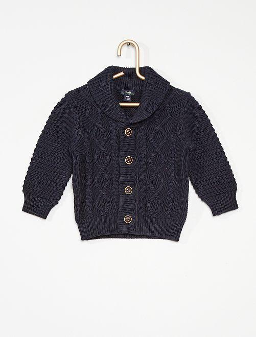 Vest van tricot                                                                                         BLAUW