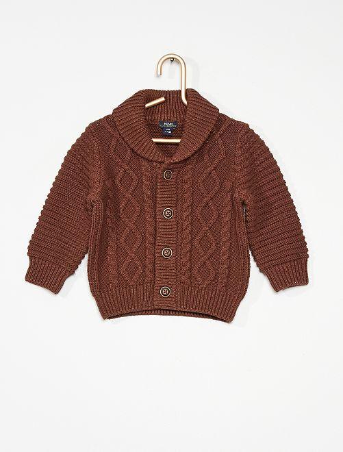 Vest van tricot                                                                                         bruin