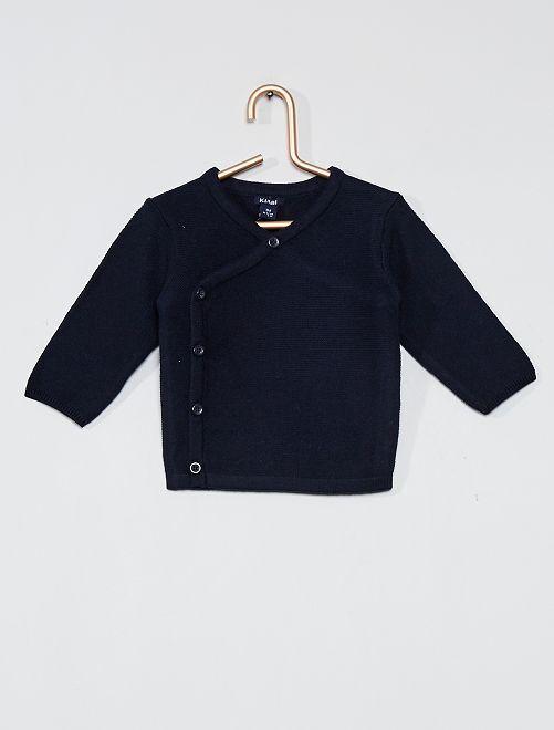Vest van tricot 'Ecodesign'                                         BLAUW