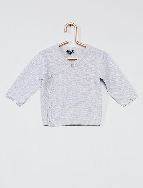 Vest van tricot 'Ecodesign'                                         GRIJS