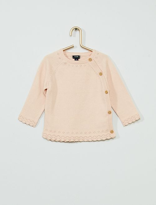 Vest van tricot 'Ecodesign'                             ROSE