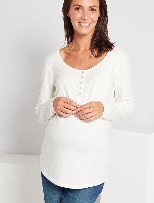 Zwangerschaps-T-shirt 'Ecodesign'                             sneeuw wit