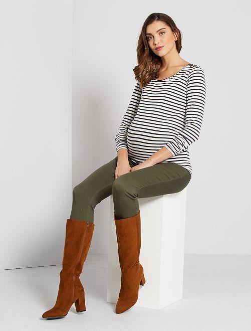 Zwangerschapsshirt 'Ecodesign'                                                     WIT