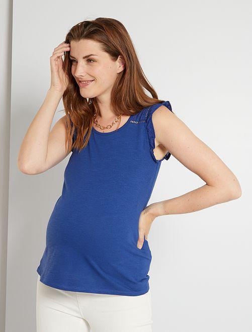 Zwangerschapssinglet                                 zeeblauw