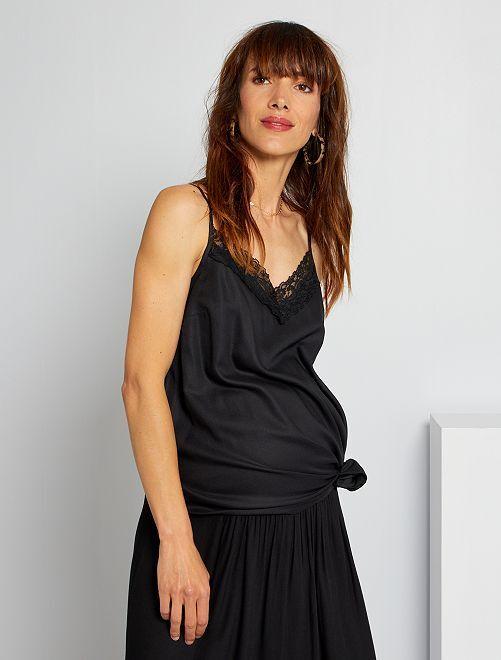 Zwangerschapstop met kant                             zwart